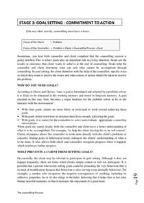 Monthly Summary Report Template the counselling process stages of the counselling process