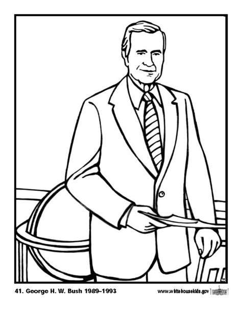 Coloriage 41 George H. W. Bush   img 12615