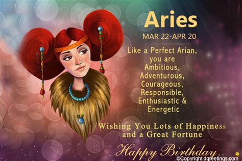 Aries Birthday Cards Aries Birthday Horoscope