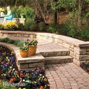 How To Build Stone Block Steps On A Hillside Ehow » Home Design 2017