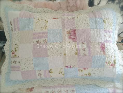 Patchwork Farm - king bed shabby pastel farm house chic multi pink