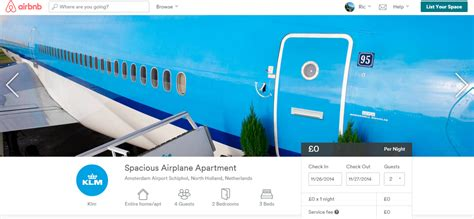 airbnb contest airbnb contest to sleep in klm airplane apartment