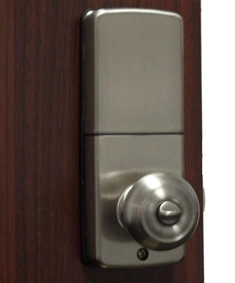 Keyless Door Knobs by Lockey E Digital Keyless Electronic Knob Door Lock Satin