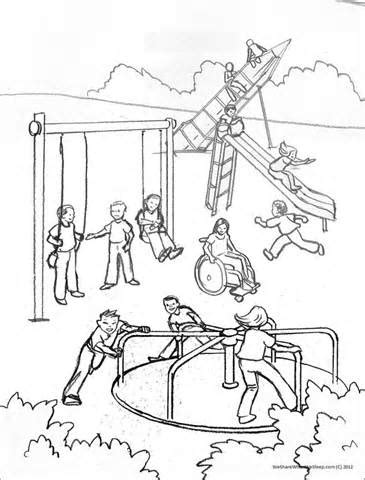 coloring pages school playground playground clipart coloring page pencil and in color