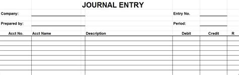 journal entry form template audit program for petty free