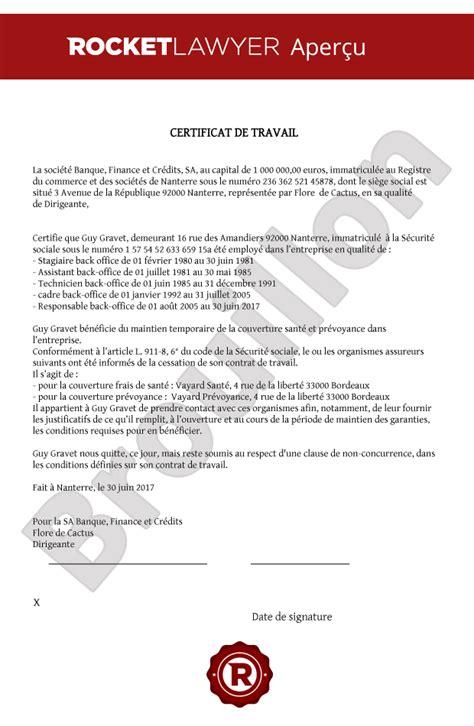Certificat De Travail Mod 232 Le Gratuit Et Personnalis 233