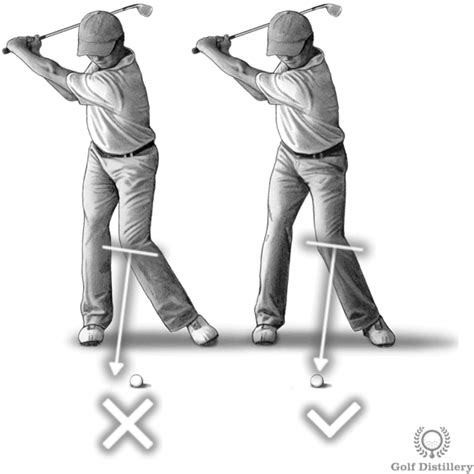 left swing move left knee towards the ball swing thought golf swing