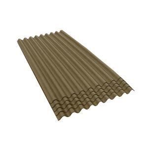 ondura 6 ft 7 in x 3 ft asphalt corrugated roof panel