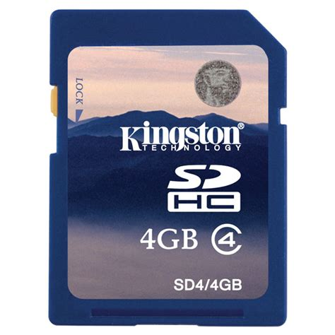 Memory Card Visipro 4gb Kingston Sd4 4gb 4gb Sdhc Class 4 Flash Memory Card Rapid