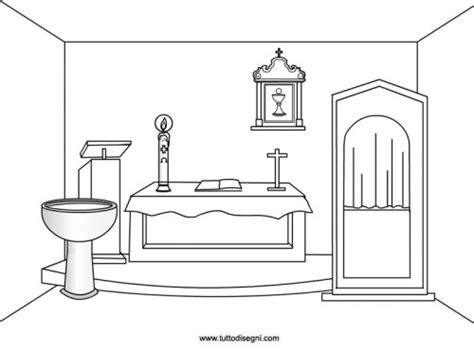 arredi chiesa chiesa oggetti sacri da colorare tutto disegni