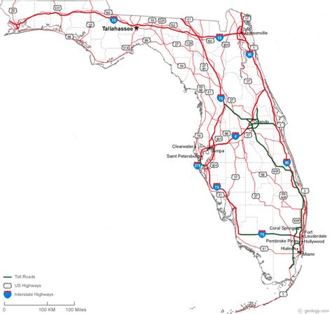 map of florida with cities map florida state cities