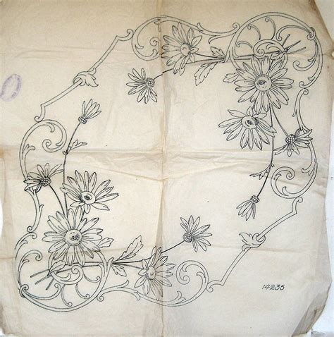 embroidery design transfer vintage deighton embroidery transfer ox eye daisy
