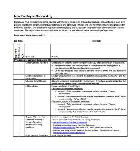 New Department Template sle onboarding plan template 7 free documents in pdf