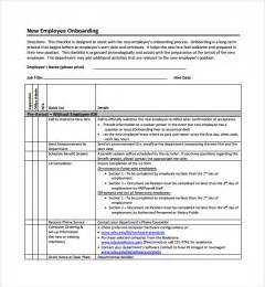 employee onboarding template sle onboarding plan template 7 free documents in pdf