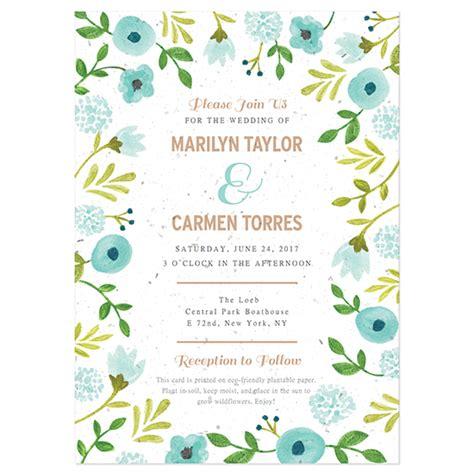 not on the high wedding invitation st painterly florals plantable wedding invitation plantable wedding invitations catalog