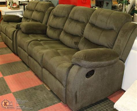 green reclining sofa new dark green fabric reclining sofa