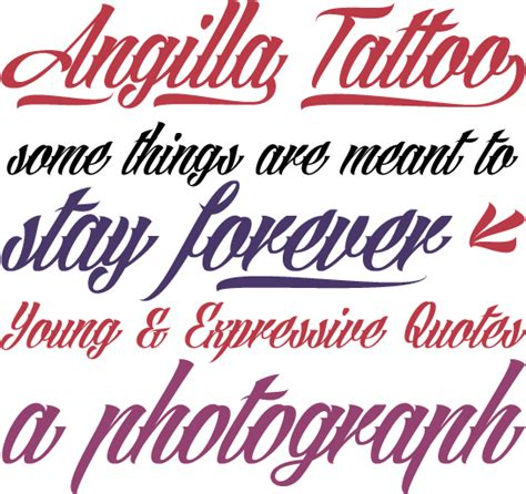 angilla tattoo font school font family linotype