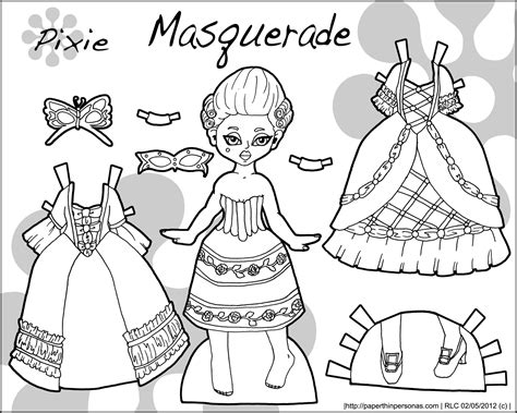 free coloring pages of clothes paper doll
