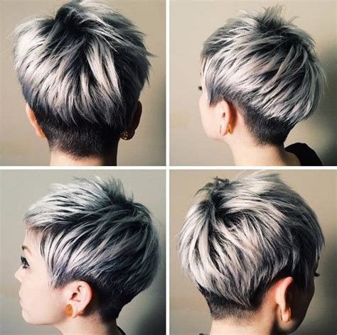 how to color a pixie cut blonde red brown ombre ed and highlighted pixie cuts