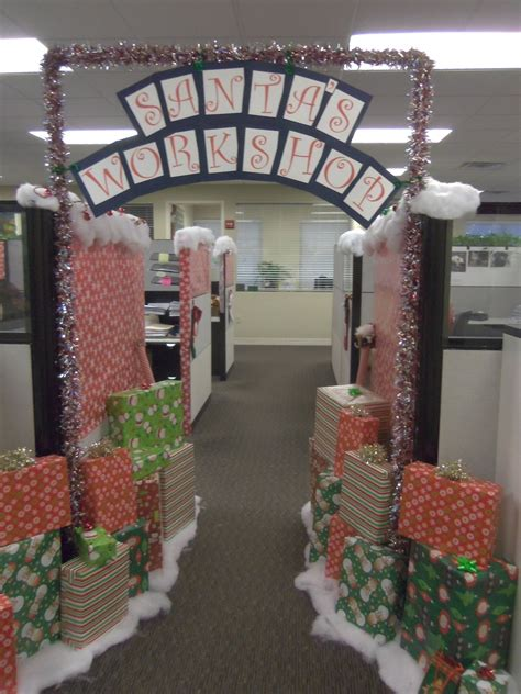 work christmas decorating ideas decorations can boost morale at the office leland management embraces the season and