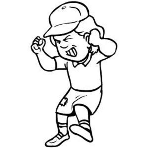 Angry Girl With Hat Coloring Sheet Angry Coloring Page