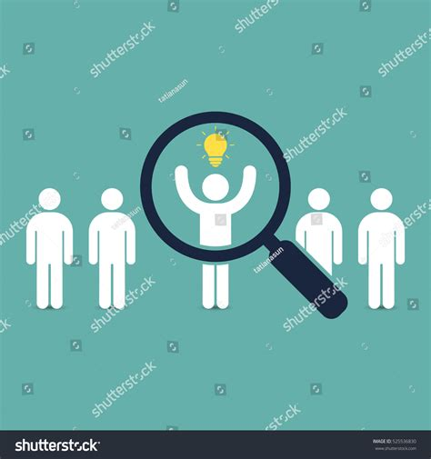 Search For Looking For Search Talent Idea Looking Employees Stock Vektorgrafik 525536830