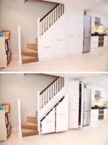 Under Stairs Decorating Ideas by 21 Staircase Storage Ideas Inspirationseek Com