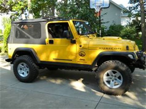 Jeep Lj For Sale 2005 Jeep Wrangler Yellow Lj Rubicon Unlimited For Sale