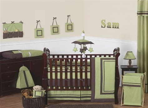 green nursery bedding sets sweet jojo designs hotel green and brown collection 9pc crib bedding set baby baby bedding