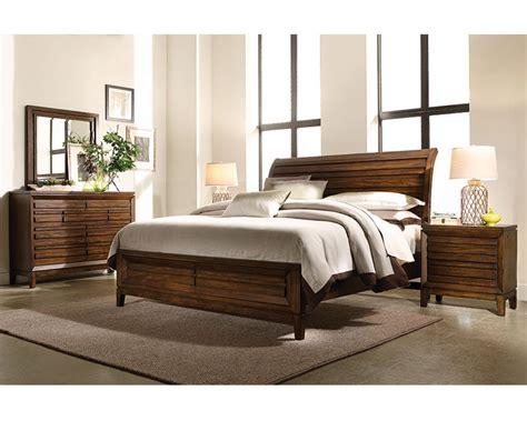 aspenhome bedroom set w sleigh storage bed walnut park