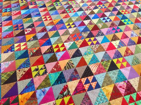 Half Triangle Quilts by Fabadashery Half Square Triangle Hst Scrappy Quilt
