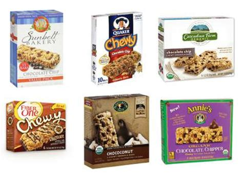 top 10 granola bars taste test chewy chocolate chip granola bars healthy