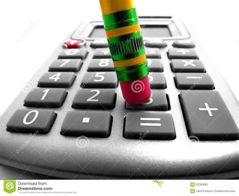 crunching numbers  calculator stock photo image