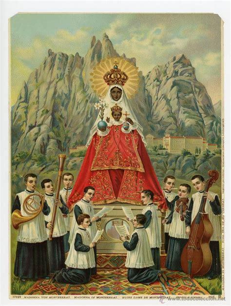 imagenes religiosas antiguas en venta virgen de montserrat bonita litografia impresa comprar
