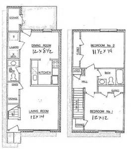 Two Bedroom Townhouse 2 Bedroom Town Home Westwood Apartments Floor Plans
