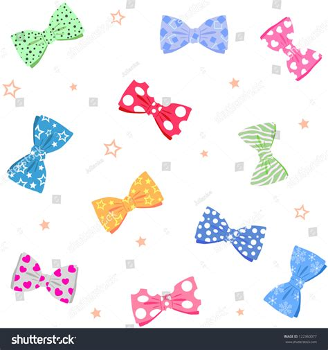 chagne color bow tie illustration seamless background bow tie bright different