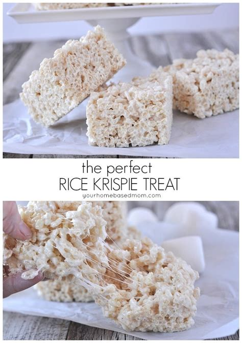 the perfect rice krispie treat your homebased mom