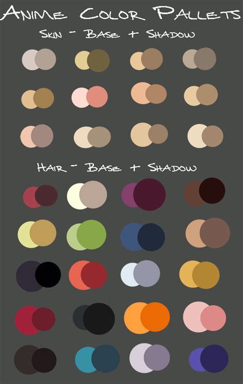 haor color generator anime color pallets by kayeshepherd on deviantart