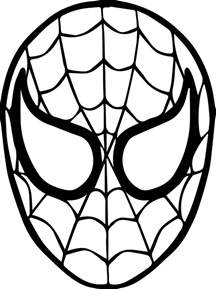 spider man mask face coloring page wecoloringpage