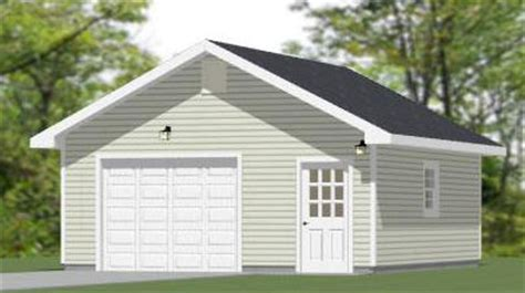 20x24 1 car detached garage plans download and build 20x garages excellent floor plans