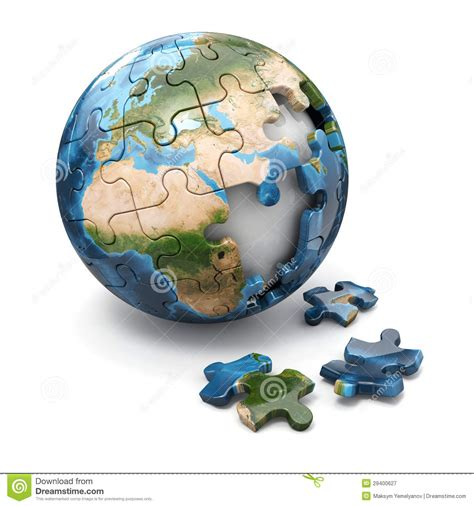 earth day printable jigsaw puzzles concept of globalization earth puzzle 3d royalty free