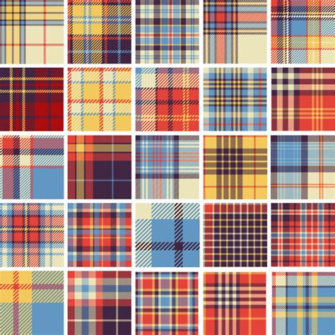 fabric pattern in vector plaid fabric patterns seamless vector free vector in
