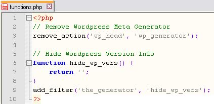 hide sections generator wordpress security how to hide wordpress meta generator