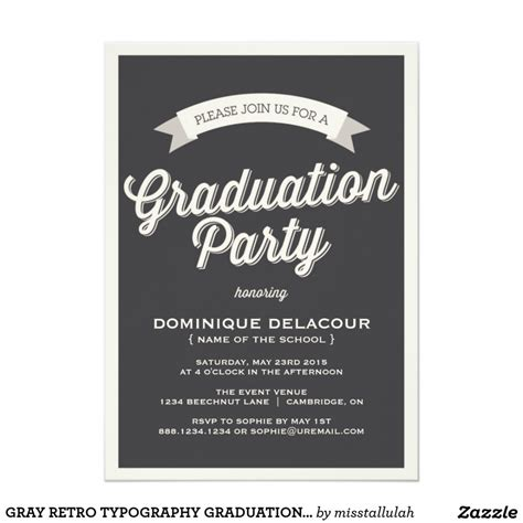 unique ideas for college graduation party invitations