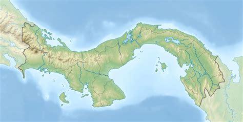 physical map of panama physical map of panama size