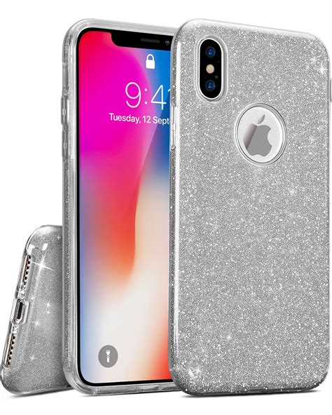 iphone  case shiny bling crystal thin glitter sparkle support wireless charging premium