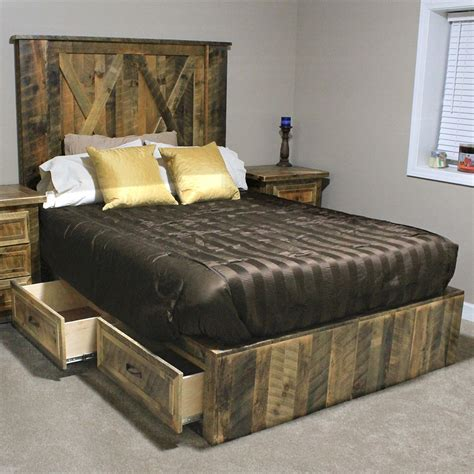 rustic platform beds log platform bed rustic practical idea to rustic