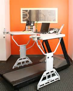 Desk Job Exercises Treadmill Desk Lets You Work While You Exercise And Vice
