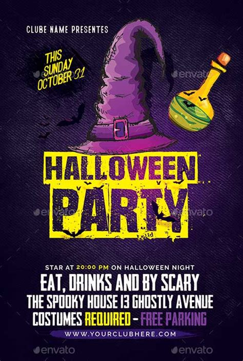 ffflyer download halloween party event flyer template