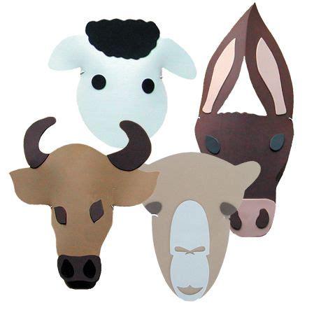 printable animal masks donkey nativity headpieces from the childminding shop sheep